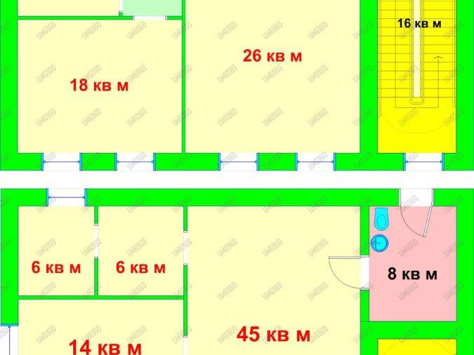 0 План помещения Автозаводская 76А 216 М.КВ.